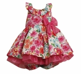 Girls Easter Dresses : Fuchsia Glitter Dress SOLD OUT