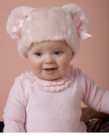 Baby Hat - Pink Minky Faux Fur Baby Hat  - SOLD OUT