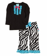 Zebra Two- Piece Pants Set - Sold Out