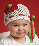 Poinsettia Crochet Hat - sold out