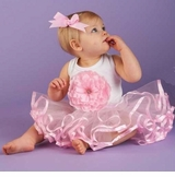 Pink Buds TUTU Dress - Adorable for 1st Birthday  sold out