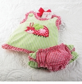Ladybug Pinafore and Bloomer Set