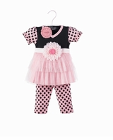 Princess Tunic & Pink and Black Dot Leggings - sold out