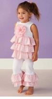 Pink Ruffle Pant Set - Infant or Toddler - sold out