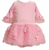 LIttle Girls Pink Velour Dress - CLEARANCE - 6-9 Month