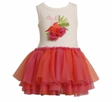 Baby or Girls Tutu Dress : Orange Carrot Tutu Dress