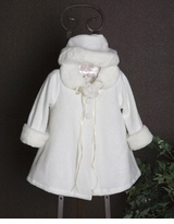 Infant Ivory Coat and Hat Set