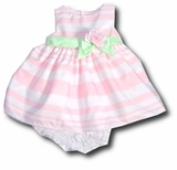 Baby Easter Dress - Pink Pastel Stripe  SOLD OUT