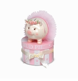 Baby Gift - Ballerina Piggy Bank in a Hat Box SOLD OUT