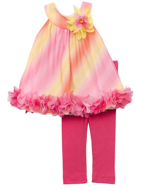 Rare Editions Fuchsia/ Yellow Ombre Legging Set 3 months at Sears.com