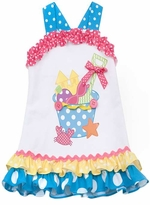 Rare Editions 2T - 6X  Sandbucket Sundress