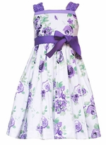 Girls Easter Dress - Lilac Floral Print Dress - SOLD OUT