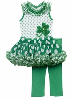 Shamrock Dot St. Patty's Tutu Legging Set