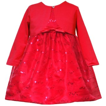 In Fashion Kids Girls Beautiful Sequined Red Dress And Cardigan  - 18 mo - 2T Size 24 month at Sears.com