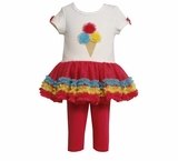 Infant or Toddler Bonnie Jean Ice Cream Tulle Legging Set