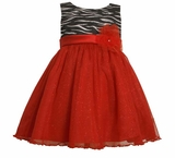 Girls Special Occasion Dress 2T - 6 Zebra Glitter Dress