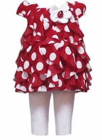 Rare Editions Red Ladybug Dot Capri Set