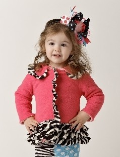 Mud Pie  Newborn Zebra Ruffle Coat -  CLEARANCE