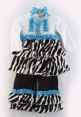 Zebra Disco Set