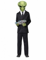 Alien Agent -  Deluxe Child Alien Costume