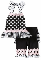 Mud Pie Tres Jolie Dot and Ruffle Capri Set - SOLD OUT