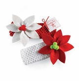 Mud Pie Poinsettia Headband  - Choose Headband Color