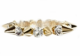 Crystal and Spikes Stretch Bracelet-SOLD OUT