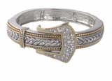 Elegant Women's Silver and Gold Tone Buckle Bracelet - SOLD OUT