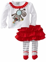 Mud Pie Girls Monkey Skirt Set - sold out