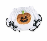 Mud Pie Pumpkin Bloomer Baby Halloween Outfit