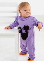 Mud Pie Purple Cat Ruffle Coverall  SALE! Size