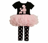 Bonnie Jean Poodle Tutu Pant Set  - sold out