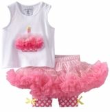 Infant or Toddler Girls Cupcake Pettiskirt Set  sold out