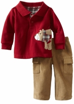 Mud Pie Boys Red Bear Polo and Khaki Cargo Pant Set  SOLD OUT