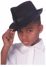 Michael Jackson Hat for Kids - Fits 4-10 years FEDORA HAT