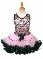 Girls Pettidress Leopard Sequined Popatu