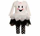 Bonnie Jean Ghost Tutu Girls Halloween Outfit
