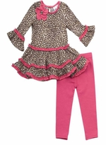 Girls Leopard Dress and Legging 2T - 6X