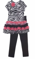 Rare Editions Girls Clothes - Zebra Ruffle Tunic Set