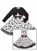 Girls  Special Occasion Dress  with Black Jacket   sold out