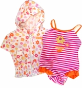 Infant Swimsuit for Girls with Coverup Robe