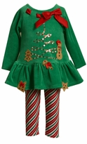 Green Velour Gingerbread Legging Set
