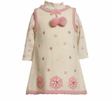 Ivory/Pink Snowflake Sweater Dress SOLD OUT
