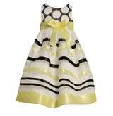 Bonnie Jean Yellow Ribbon Dress - Girls Summer Dress  Size 4