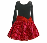 Red Zebra Hipster -  Girls 7-16 and Plus Sizes Too!