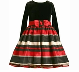 Black and Red Striped Dress  sold out