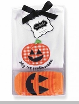 My 1st Halloween Crawler Orange Check Pumpkin Socks Gift Set SOLD OUT