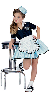 Car Hop Girl Costume - 50's Costumes
