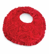 Mud Pie Baby Bibs: Red Rosette Baby Girl's Bib