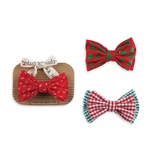 Mud Pie Boy's Clip On Bow Tie: Multi Colored Boy's Holiday Bow Ties